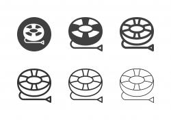 Snow Tubing Icons - Multi Series