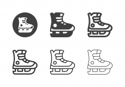 Ice Hockey Shoes Icons - Multi Series