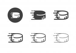 Ice Hockey Puck Icons - Multi Series