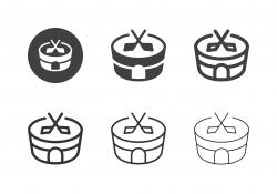 Ice Hockey Arena Icons - Multi Series