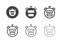 Digital Stopwatch Icons - Multi Series