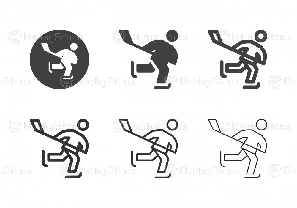 Ice Hockey Player Icons - Multi Series