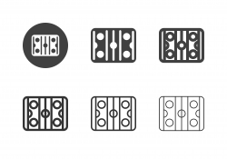 Ice Hockey Rink Icons - Multi Series