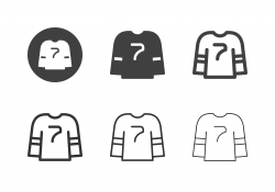 Ice Hockey Jersey Icons - Multi Series