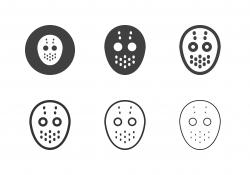 Ice Hockey Mask Icons - Multi Series