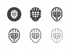Ice Hockey Helmet with Cage Icons - Multi Series
