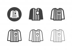 Ice Hockey Referee Jersey Icons - Multi Series