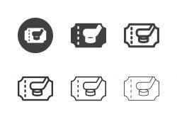 Ice Hockey Tickets Icons - Multi Series