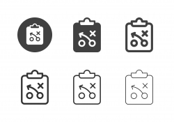 Sports Planning Clipboard Icons - Multi Series