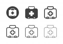 First Aid Kit Box Icons - Multi Series