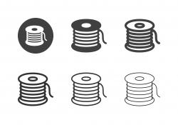 Fishing Line Icons - Multi Series