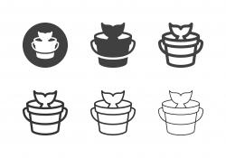 Fishing Bucket Icons - Multi Series