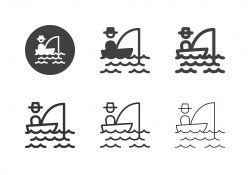Fishing on the Boat Icons - Multi Series