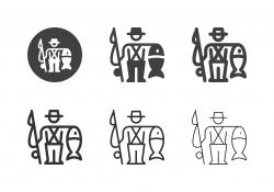 Fisherman with Fish Icons - Multi Series