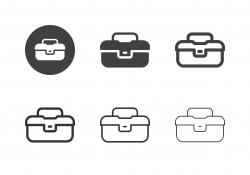 Fishing Tackle Box Icons - Multi Series