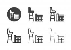 Tennis Umpires Chair Icons - Multi Series