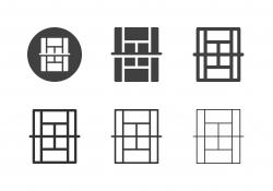 Tennis Court Icons - Multi Series