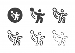 Tennis Forehand Icons - Multi Series