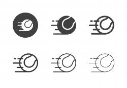 Tennis Ball Speed Icons - Multi Series