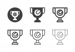 Tennis Championship Trophy Icons - Multi Series