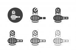 Bouncing Tennis Ball on Racket Icons - Multi Series