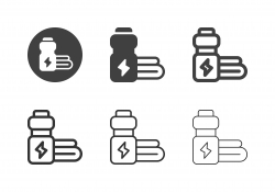Energy Drink Bottle Icons - Multi Series