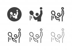 Tennis Serving Icons - Multi Series