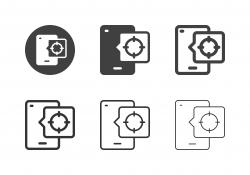 Mobile App Target Icons - Multi Series