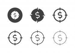 Dollar Target Icons - Multi Series