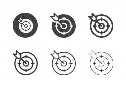Archery Target Icons - Multi Series