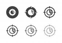 Data Analysis Target Icons - Multi Series