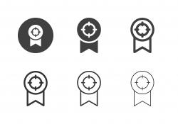 Winner Medal Target Icons - Multi Series