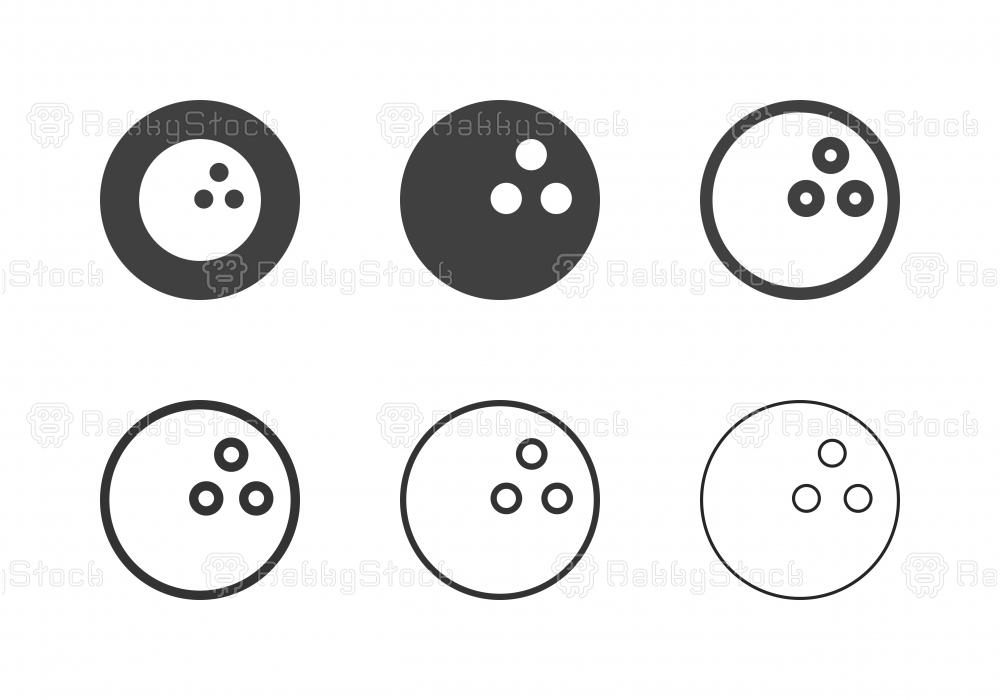 Bowling Ball Icons - Multi Series