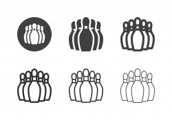 Bowling Pin Icons - Multi Series