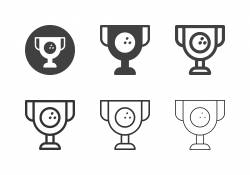 Bowling Trophy Cup Icons - Multi Series
