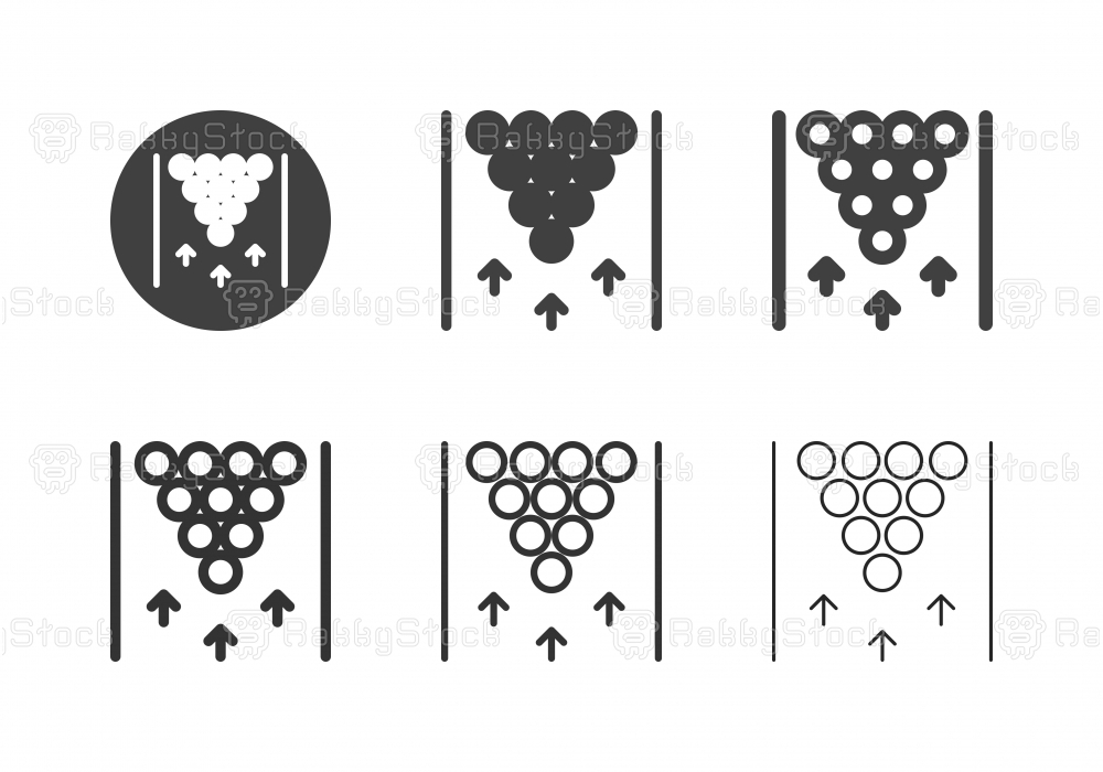 Bowling Lane Top View Icons - Multi Series