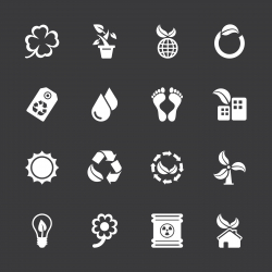 Ecology Icons - White Series | EPS10