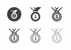Winner Medal Icons - Multi Series