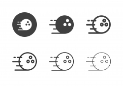 Bowling Ball Speed Icons - Multi Series