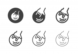 Fingertip Holding Bowling Ball Icons - Multi Series