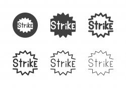 Bowling Strike Icons - Multi Series
