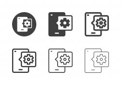 Mobile Setting Icons - Multi Series
