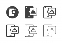 Mobile Service Bell Icons - Multi Series