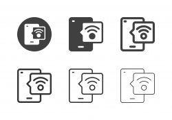 Mobile Wifi Connection Icons - Multi Series