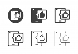 Mobile Like Button Icons - Multi Series