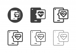 Mobile Health Service Icons - Multi Series