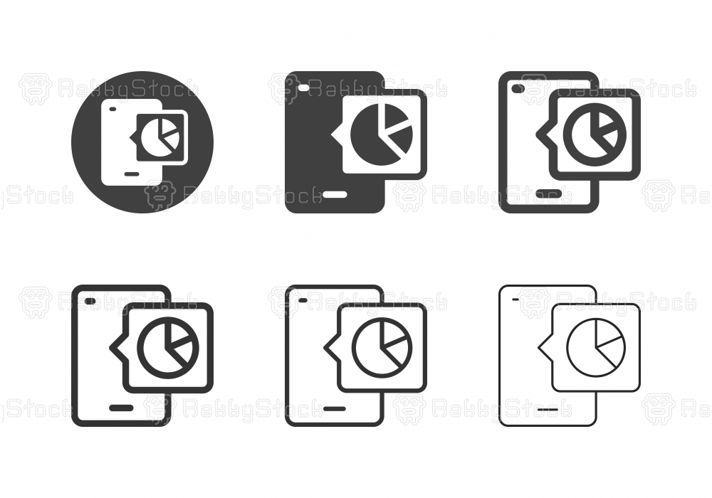 Mobile Analyzing Icons - Multi Series