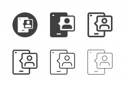 Mobile User Profile Icons - Multi Series
