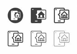 Smart Home Mobile App Icons - Multi Series