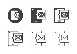 Mobile Mail Icons - Multi Series